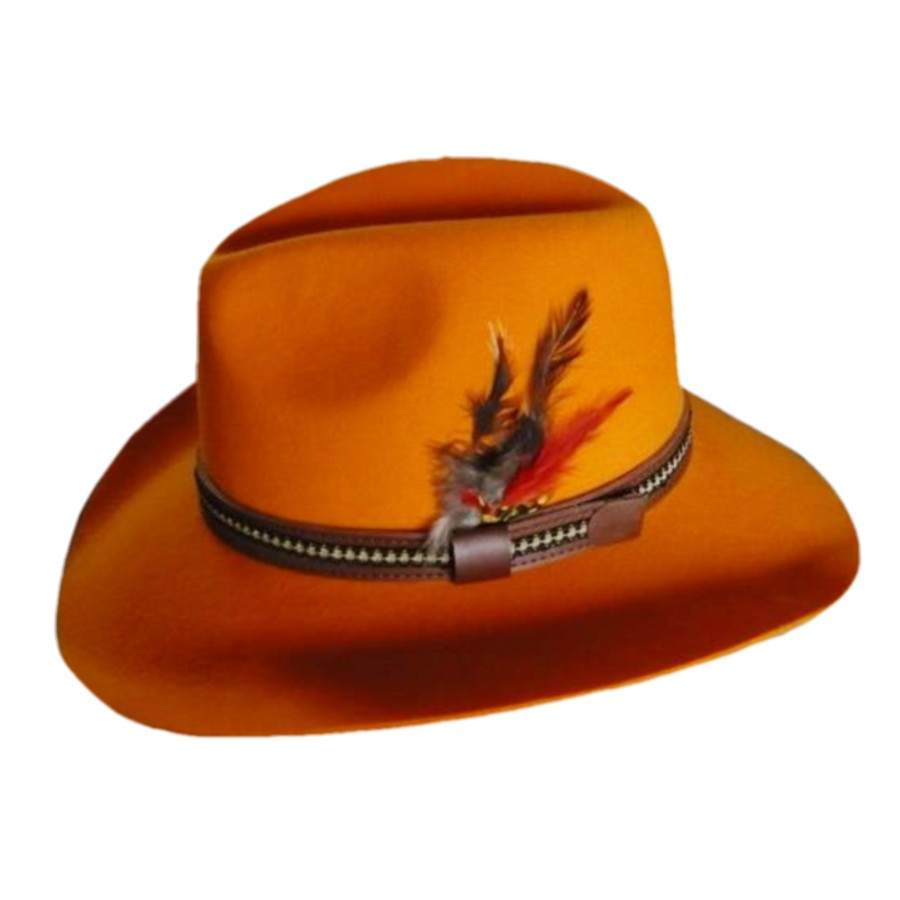 9fc70e384e55a hot sale new fashion high quality products eco friendly durable wool blaze  orange cowboy hat made in china