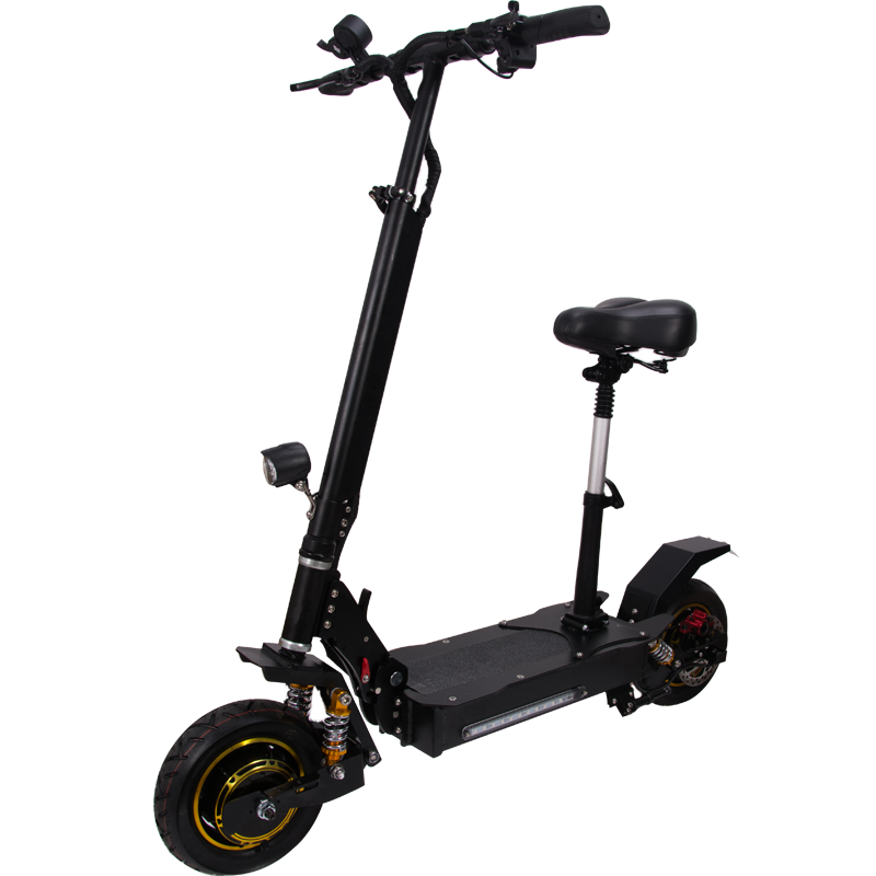 VICSOUND Light Weight Electric Scooter 10 inch 60V 2000W Adult With Low Price, Black
