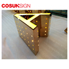 Frontlit 3d Led Channel Letter acrylic free standing mirror letters