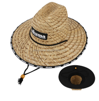 Men's Lifeguard Straw Hat Wide Brim Sun Hats Wholesale UV Protection Farmer Sun Hat