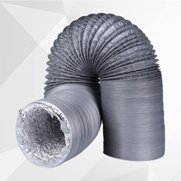 Top Quality HVAC Fire Resistant PVC Aluminum Foil Air flexible Duct Hose Silencer for Air Conditioning Ventilation System