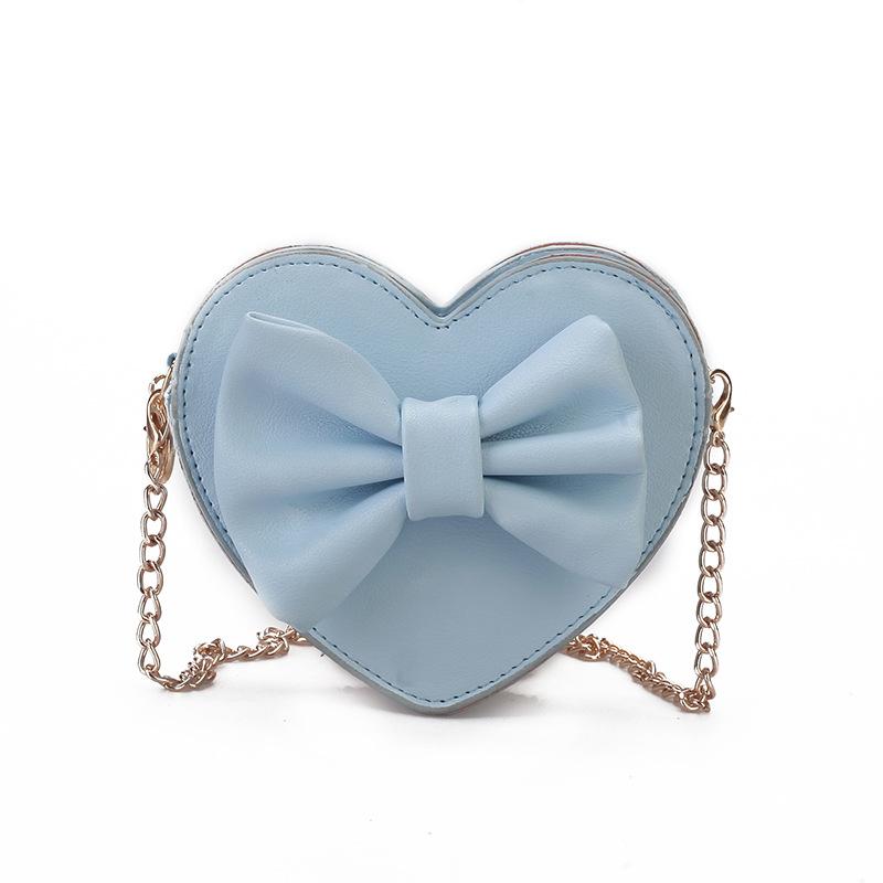 RTS Fashion Heart Design Kids Shoulder Bags Girls Purse Handbag