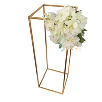 "31.5"" Event rectangle frame centerpieces flower stand for wedding table decoration"