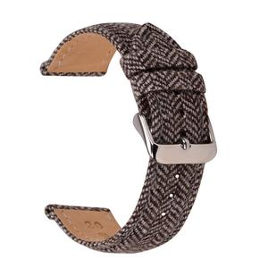 High Quality Wool Leather Watchband 18mm 20mm 22mm Leather Watchstrap (More color&size)