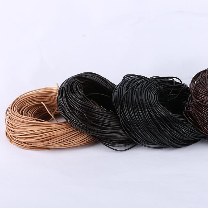 2mm Round Genuine Cow Leather Cord Jewelry Rope String DIY accessories leather cords for bracelets making