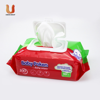 Hot sale Water natural care OEM baby wipes, organic bamboo baby portable custom wet wipe