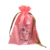 Custom small satin drawstring hair wig gift jewelry pouch bag with ribbon