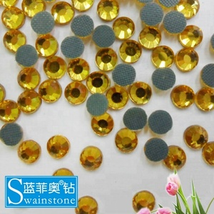 S0807 Topaz hotfix nailheads iron on ,transfer rhinestuds strass china cheap rhinestone template material SS10 3MM