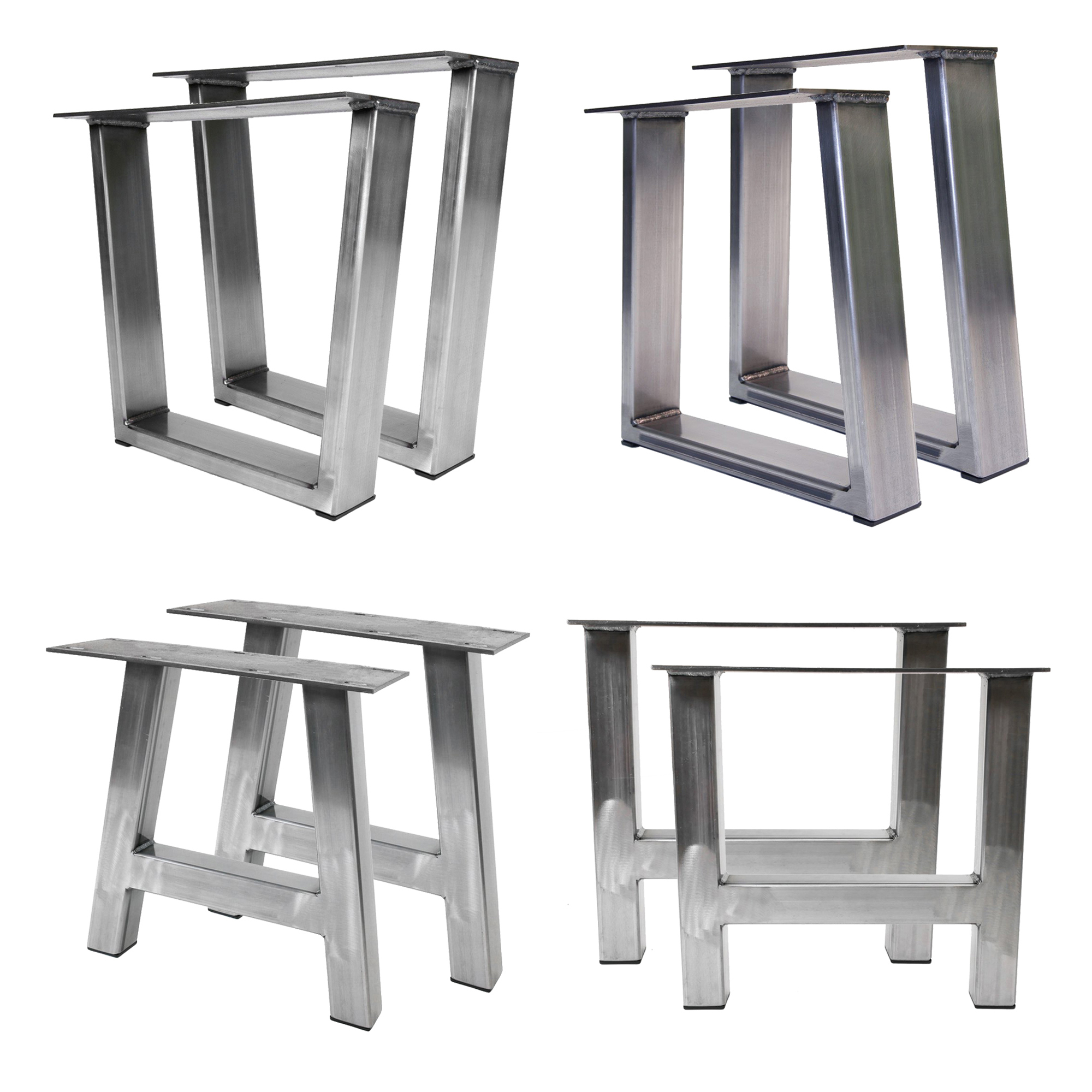 Whole Modern Stainless Steel Furniture Tzoids Rectangles Square Bench Legs Metal Table For Dining Coffee