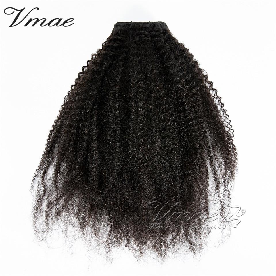 VMAE High Quality Mongolian Grade 9A 10A 10-30 Inch Burmese Natural Black 4C Afro Kinky Curly Virgin Human Hair Weave Extensions