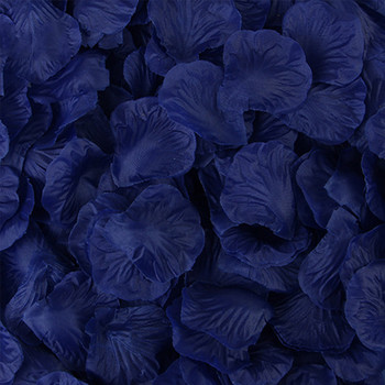 Royal Blue Silk Rose Petals Artificial Flowers for Decoration Wedding Party