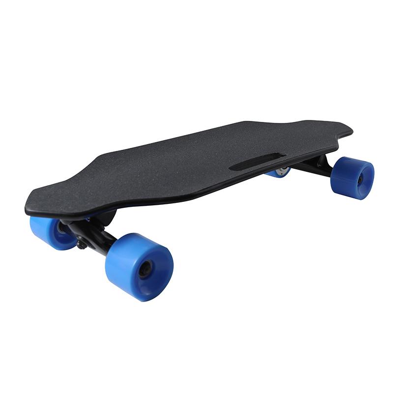 Preço de fábrica 4 rodas 400 w controle remoto skate elétrico skate bordo com controle único duplo motor