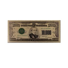 American Colorful Gold Banknote 24k Gold Foil 10000 Dollar 999.9 World Money Wholesale