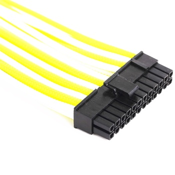 High quality 24 pin sleeved cable extension cable extension kit