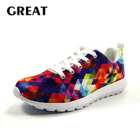 Greatshoe causal flats shoes fashion 3D Print for men, unisex sport sneakers