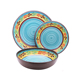 Hot sale retro style eco-friendly melamine dinner set plastic server dinnerware