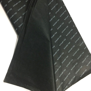 17gsm logo printed custom black wrapping tissue paper