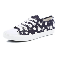 OEM Order Women Causal Wave Point Custom Logo Printed Canvas Shoes