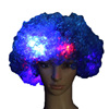 Football Fans Wigs Colorful Wigs Clown hair NEW Light Up Flashing LED Rainbow Hot Wig Clown Halloween