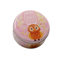 Custom Wholesale Gift Tin Cookie Box Empty Cookie Tins Round Tin Metal Box Cookie Box