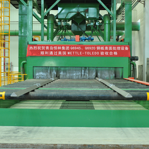 China Automatic Steel Metal Surface Treatment Shot Blasting and Primer Processing Line