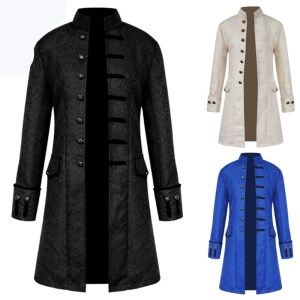 wholesale Tailcoat Goth Long Steampunk Formal Gothic Victorian Frock Costume for Halloween vintage clothing jacket coat for men