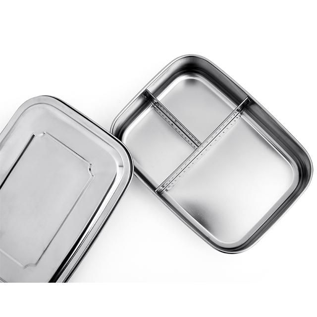 Rectangular Stainless Steel Lunch Box 1800ml Storage Food Carrier 1 2 3 4 compartment