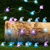 Fashion String Lights 10 feet 3A Rabbit design with battery box for Spring Garden babyroom