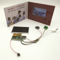 2.4 10 4.3 inch 5 inch 7 inch custom greeting card touch screen video brochure tft lcd digital display module