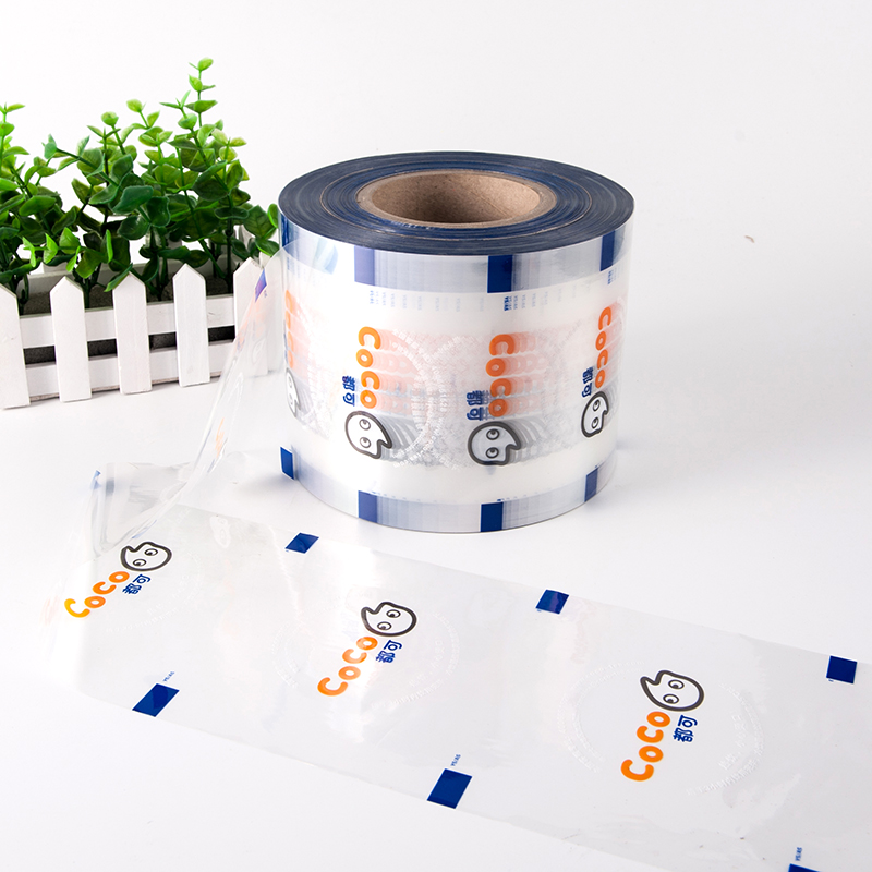 Waterproof customized bubble tea cup sealing film/Packing Food printed cups sealing film