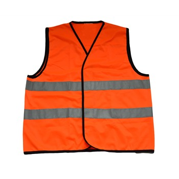 ANSI Class 2 Orange Safety Vest with Zipper Closure