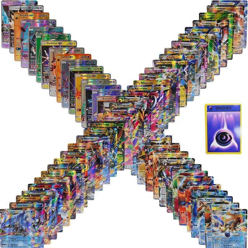 100GX sans répétition en Français Lot de 100 cartes Pokémon