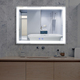 LED Light Backlit Mirror Bathroom Wall Mounted Makeup Mirror, Anti-Fog Bathroom Lighted Vanity Mirror, Dimmer Touch Switch