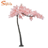 Decorative new artificial cherry blossom flower tree/sakura tree new process branch for wedding home office