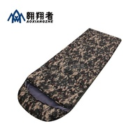 New Sale High quality Cotton Camping sleeping bag envelope style army or Military or camouflage sleeping bags