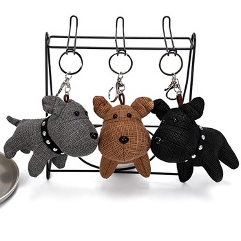 custom made cute dog plush toy keychain car key buckle
