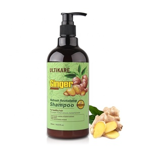 OEM sulfate free natural organic herbal ginger hair growth shampoo