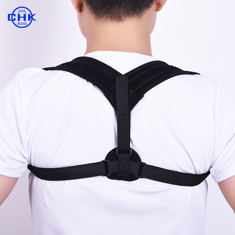2019 Innovated Classical Effective Upper support Neoprene Posture Brace Unisex Adjustable Shoulder and Back strap, Black