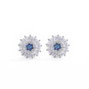 New Arrival 925 Sterling Silver Earrings White CZ Blue Eye Stud Earring for Fashion Women Daily Party Silver Jewelry