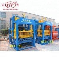 HF Hydraulic QT4-15S block making machine & brick making machine in china