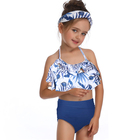 Classy Kids Girls Swimwear Children Swim Bathing Suit Printed Tulle Swimsuits For Girl
