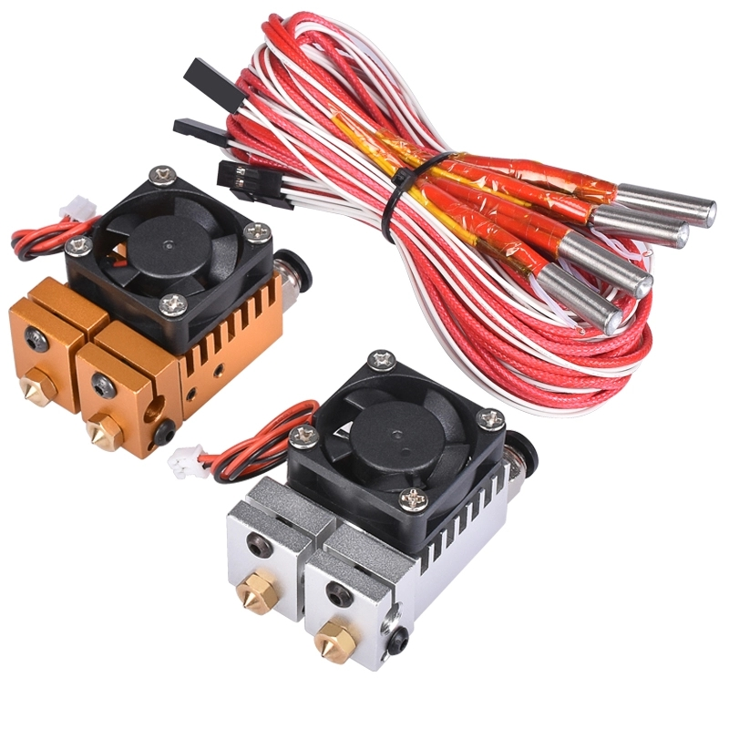 3D Chimäre Hotend Kit Dual Farbe 2 IN 2 OUT Extruder Multi-extrusion Alle metall V6 Dual Extruder 3D drucker teile