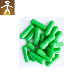 medical grade size 0 clear gelatin capsules green empty pill capsules