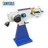 belt sander grinding wheel machine equipment on metal