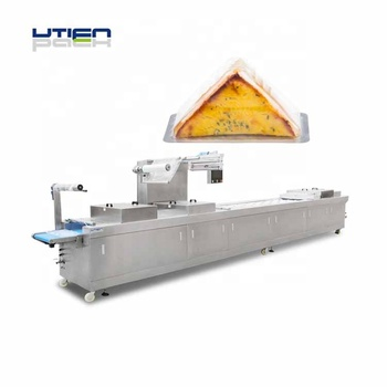 UTIEN Automatic thermoforming packaging machine with modified atmosphere packaging for sandwich food