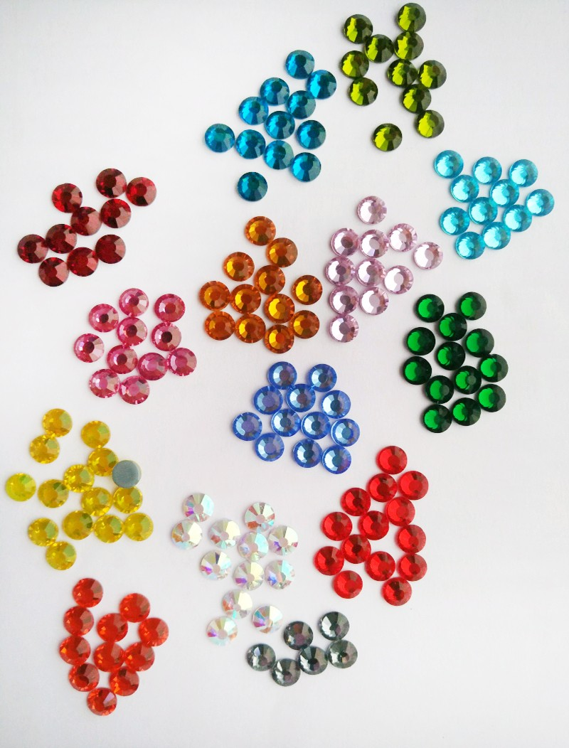 Y0912 FREE SHIPPING! online Hot Fix Rhinestone Crystals;  ss10 iron-on beads,Wholesale transfer crystals ss4 ss6 ss8 ss12 ss16