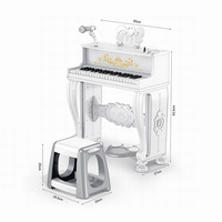 High quality instrument toy plastic kids piano with music for wholesale amazon hot with cpc