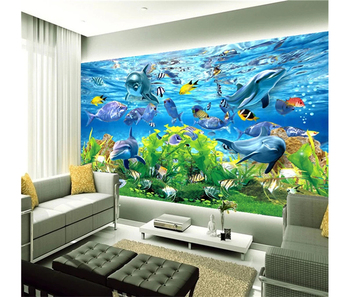 Wonderful Aquarium Under Sea Water Decor Home Wall Paper Mural For Hotel Buy Wonderful Aquarium Paper Muralunder Sea Water Decor Home Wall