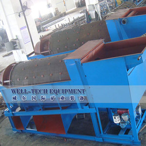 100t/ph gold mine portable trommel washing machine
