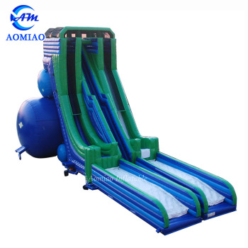 Drop Kick Water Slide Giant Inflatable Free Fall slide inflatable game